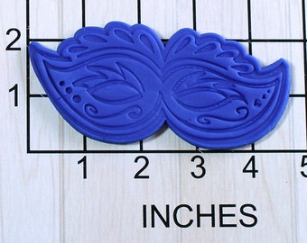 Mardi Gras Mask Fondant Cookie Cutter AND Stamp #1641