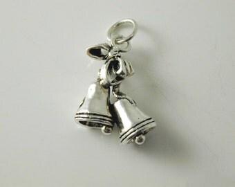 silver bells charm 1.93g vintage