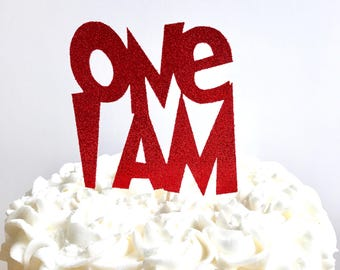 Dr Seuss Cake Topper/ Cat in the Hat birthday/ Dr Seuss birthday/ One I Am