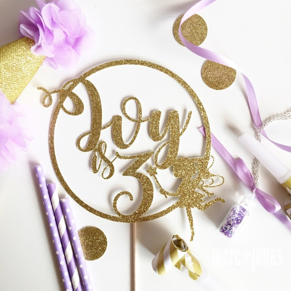 Fairy with wand Cake Topper   Glitter Cake Topper   Fairy Cake Topper