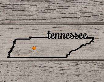 Tennessee Yeti Decal, UT Vinyl, UT Yeti, Tennessee Vinyl, UT Sticker, Tennessee Sticker, Tennessee Yeti, Tennessee Vols Yeti
