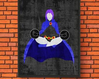 Minimalism Art - Raven Print