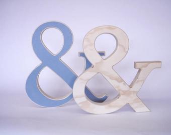 Ampersand wood letter
