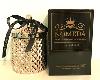 Nomeda  Luxury Scented Candles in Diamond Geo-cut glass holders