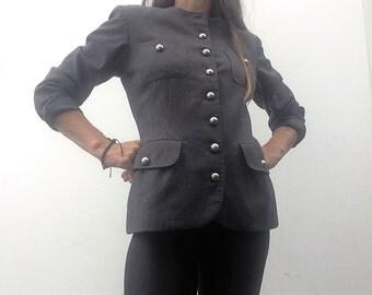 vintage CACHAREL jacket wool thin blazer jacket