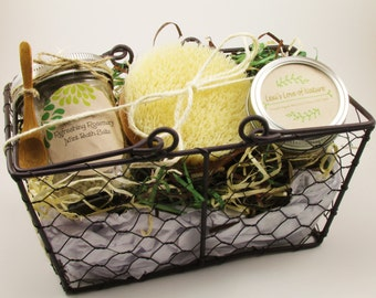 Relaxation Gift Basket, New Mom Gift, Gift Basket, Stress Relief, Spa Gift Basket, Employee Gift, Bridesmaid Gift, Mom to be Gift, Baby Gift