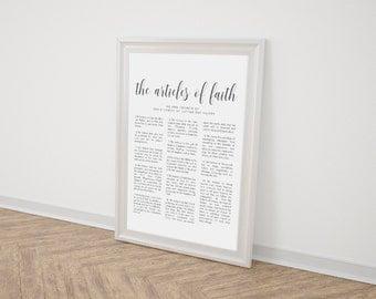 """The Articles of Faith   LDS Articles of Faith   Mormon   Faith   Faith Printable   Comes in 3 sizes! 8x10, 11x14, and 16x20"""""""