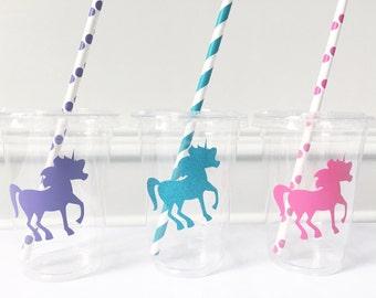 Unicorn Party Favors Idea, Rainbow Party Supplies, Unicorn Birthday Party Ideas, Unicorn Party Supplies, Rainbow Unicorn Party Cups