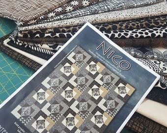 The NICO Quilt Kit Contempo's Sgraffito Collection 60 x 75 Inches