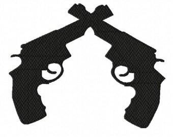 Pistols...Instant Download...Pattern Fill Machine Embroidery DESIGN NO. 787