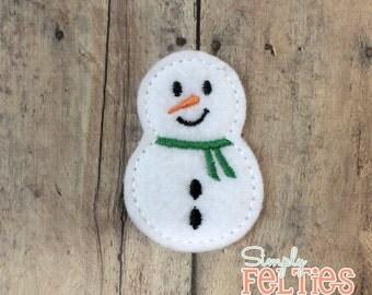 Snowman Felties--Green Scarf--Set of 4