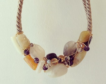Rope A-symmetrical statement necklace