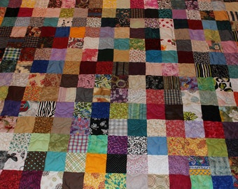 Scrappy Patchwork Quilt - Full Size Quilt - 50% Deposit