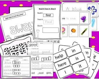 Preschool Sight Words Curriculum Download. Preschool-Kindergarten. Worksheets and Activities in PDF files.