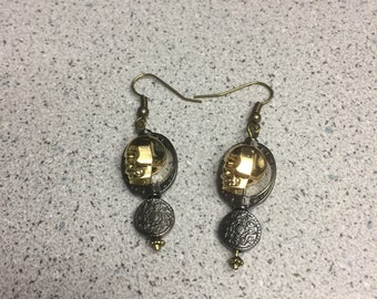 Pirates of Carribean - Inspired Coin Earring