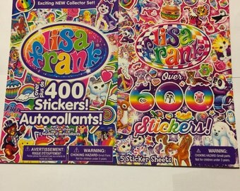 2 Lisa Frank sticker pads over 1000 stickers