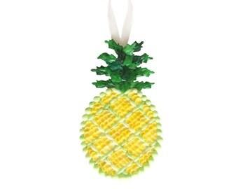 Pineapple Seashell Ornament