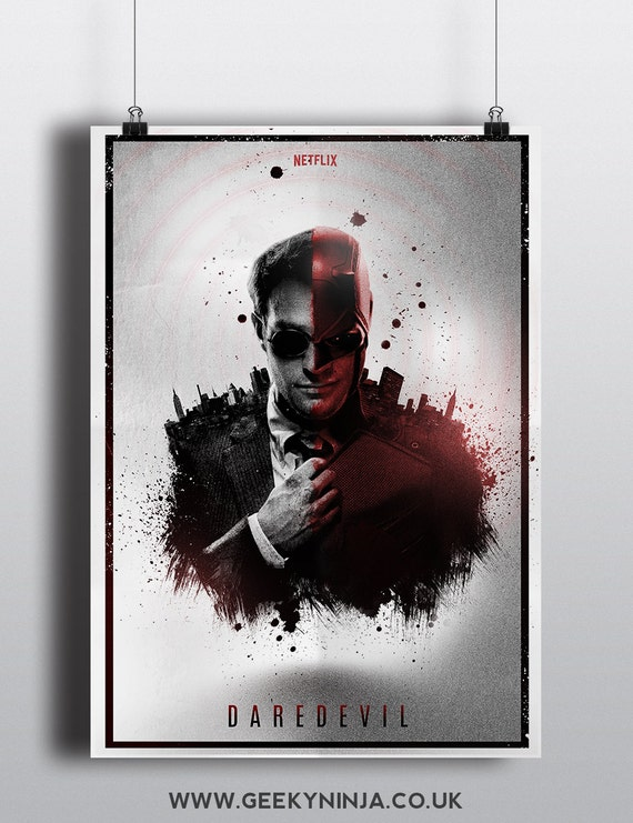 Daredevil Inspired Alternative Poster - Daredevil Inspired Minimalist Poster