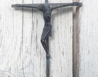 Bronze brutalist cricifix English 1950s