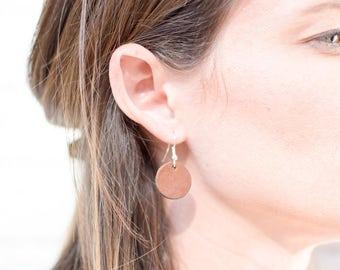 Custom Leather Earrings, Dangle earrings, Silver earrings, Leather Jewelry, fashion accessory, owl earrings, handmade, oil diffuser