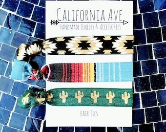 Baja Hair Tie Set of 3, clothing gift