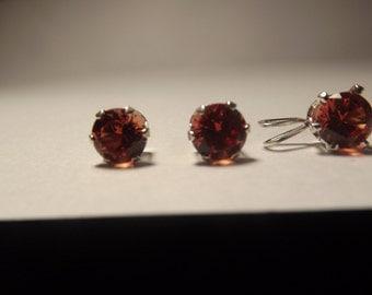 Paraparadscha Sapphire Jewelry Set