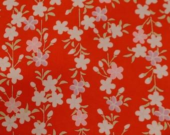 Vintage Japanese Silk Kimono Fabric Cherry Blossom