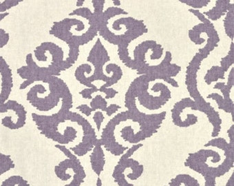 "Lilac Lavender Damask Print by Waverly ""Luminary"" Drapery Panels-Lined, Unlined, or Blackout Curtains, Sold in Pairs, 2 panels"