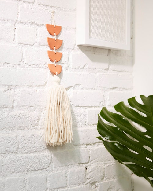 Make This: Air-Dry Clay Wall Hanging