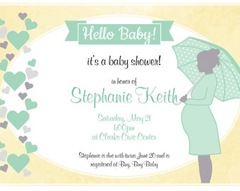 Adorable Neutral Baby Shower Invitation