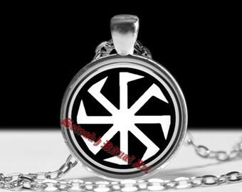 Slavic amulet, Kolovrat pagan jewelry, Slavic necklace, magic talisman #448