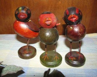Vintage Wooden Birds