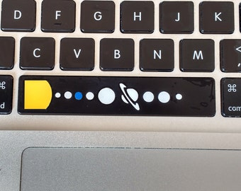 Space Bar Sticker Spacebar Decal - Vinyl cut planets sticker for your computer keyboard.