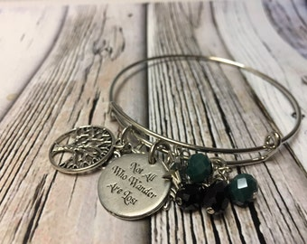 Not all who wonder are lost - bangle bracelet- boho bracelet- adventure bracelet- not all who lost bracelet - book jewelry - bangle bracelet
