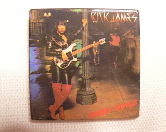 BIG Vintage Early 80s Rick James - Street Songs Album (1981) Pin / Button / Badge