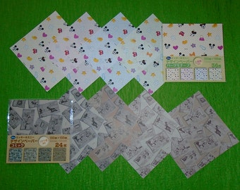 60 Origami Papers with Patterns of Mickey Mouse