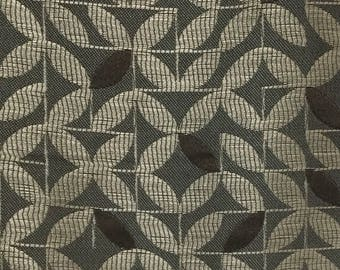 Taupe Leaves - Upholstery Fabric by The Yard