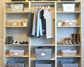 PDF: Wardrobe Labels, Closet Labels, Printable Organization Labels, Clothes Organization, Wardrobe Organization - Instant Download
