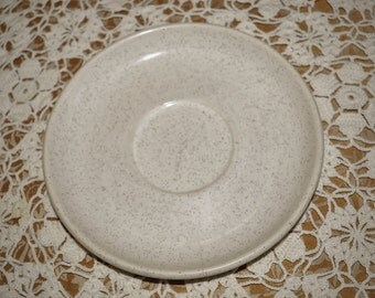 Vintage Brusche' Speckled White Saucer 6 in. diameter