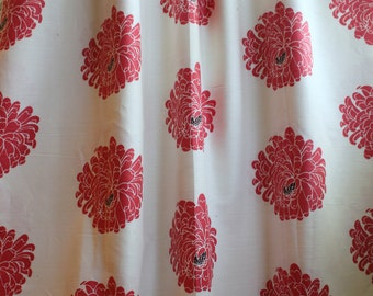 Romo, Cherry Red, Printed Linen Fabric, From Jane Hall Design
