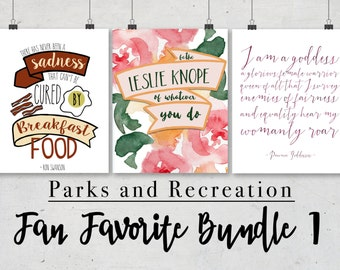 Parks and Rec - Leslie Knope - 8x10 wall prints - Breakfast food - Ron Swanson - Pawnee Goddess - Cheap home decor - Top Christmas Gifts
