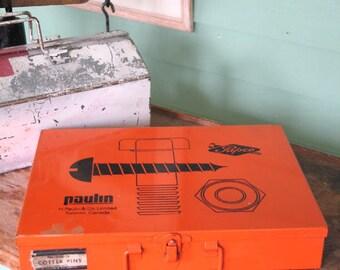 Vintage Papco Metal Storage Box