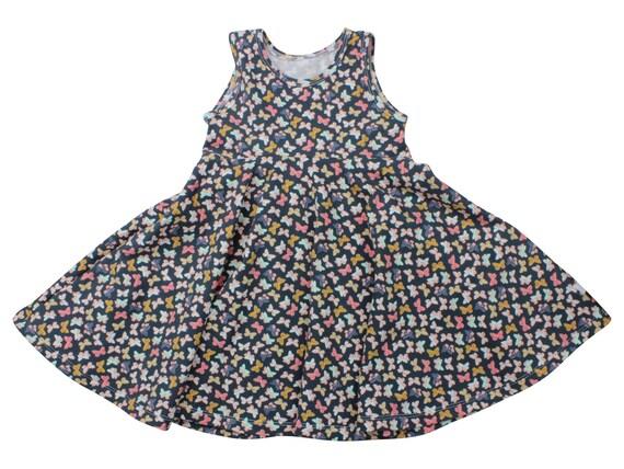 Butterfly Twirl Dress Twirly Dress Summer Dress Toddler Dress Child Dress Baby Dress Girl Twirl Dress Blue Pink Gold Mothlike Shadows Dress