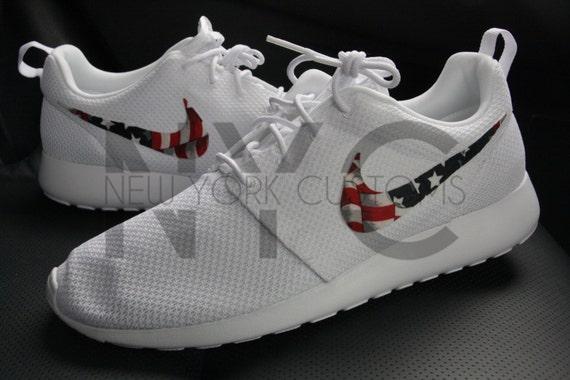 9cd7520e24d94 durable modeling American Flag Nike Roshe One Run White V3 Edition by  NYCustoms