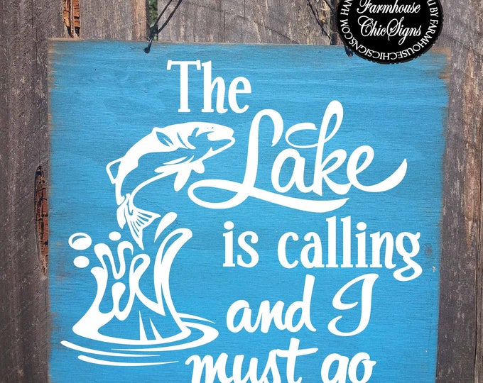lake, lake decor, lake is calling, lake house decor, lake sign, lake decoration, lake decor, Lake Tahoe, Lake Michigan, Lake Superior
