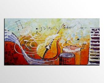 Original Painting, Music Painting, Bedroom Wall Art, Violin Art, Canvas Art, Canvas Painting, Abstract Painting, Abstract Art, Modern Art