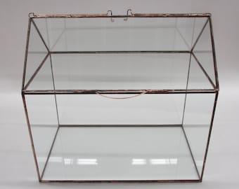 OUR House Card Box, Terrarium, Display Case, Glass Box