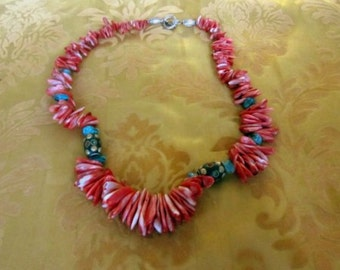Coral and Tourqoise Necklace