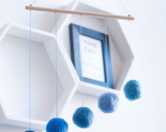 Gobbi Mobile - Montessori Mobile - Baby Mobile - Montessori Nursery - Blue  Baby Mobile