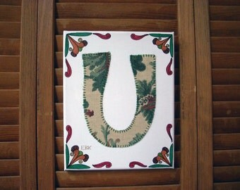 Initial U #1 Fabric Wall Art